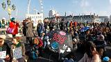 Environmentalists occupy five bridges in central London