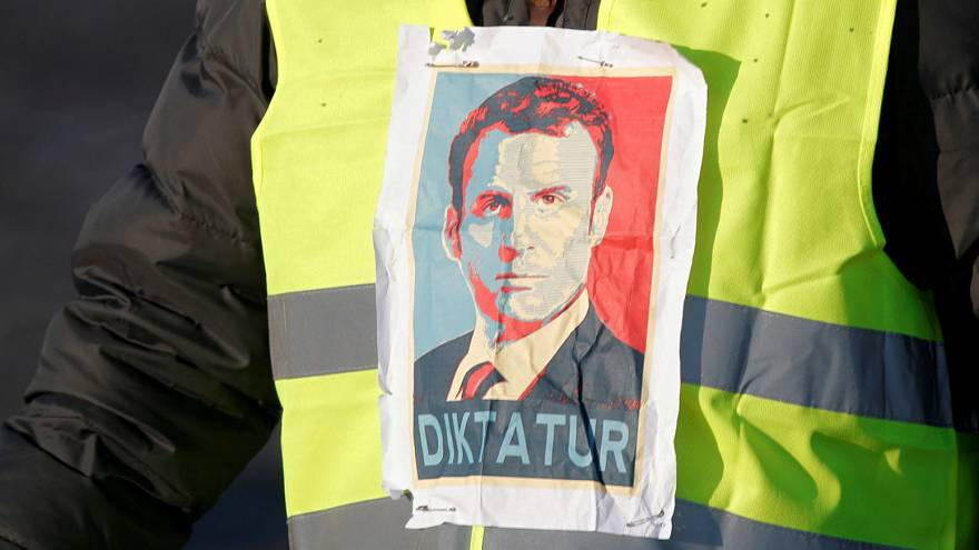 Yellow block road: France's fuel price protests in pictures