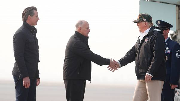 California, il presidente Trump in visita per ricognizione danni