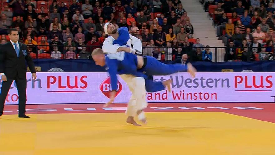 Fancy footwork and flying finishes on Day 2 of Hague Judo Grand Prix