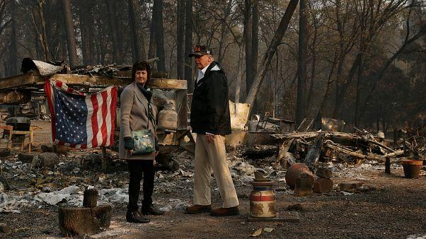 دیدار دونالد ترامپ از مناطق تخریب شده بر اثر آتشسوزی بزرگ کالیفرنیا