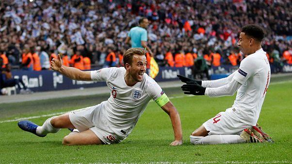 Harry Kane e Jesse Lingaard apuraram a Inglaterra na Liga das Nações