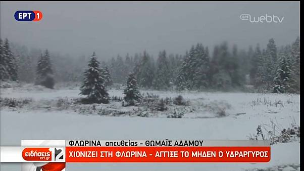 Verschneite Landschaft in Griechenland