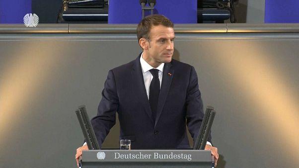Macron quer uma aliança franco-alemã mais forte