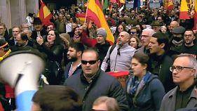 Femen stage anti-fascist protest on Franco anniversary
