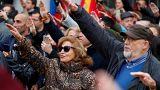 Femen üyesi kadınlardan İspanya'da faşizm protestosu