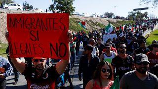 Einwohner Tijuanas protestieren gegen Migranten-Zustrom