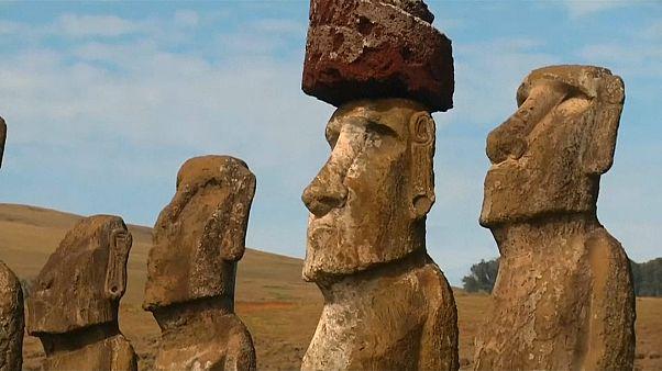 Povo Rapa Nui à procura dos Moais