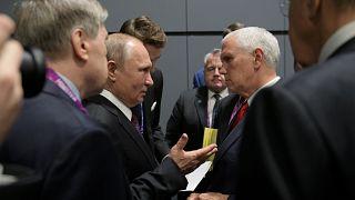 بوتين خلال لقائه ببنس