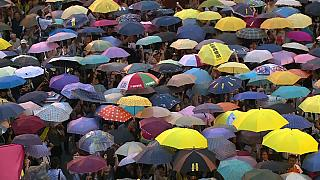 """Hong Kong's """"Umbrella Protest"""" leaders go on trial"""