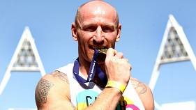 Gareth Thomas at an athletics event in London in 2012