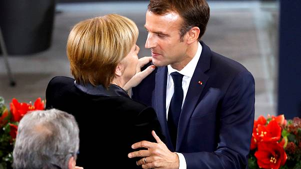 Macron embraces Europe amid chaos in France