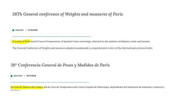 Ordító fordítási hiba a spanyol minisztérium honlapján
