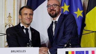 Macron lleva su discurso europeísta a Bélgica