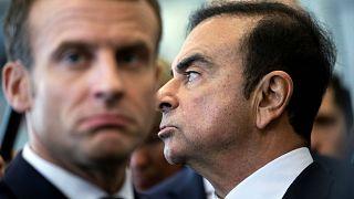 Fransa Cumhurbaşkanı Emmanuel Macron ve Renault CEO'su Carlos Ghosn