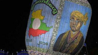 Festival de balões de ar quente em Myanmar