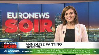 Euronews Soir, l'actualité du lundi 19 novembre