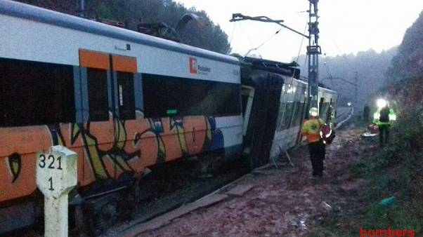 At last one person has died after a train derailed near Bacrelone on Nov 20
