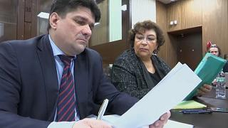 Адвокат Вадим Прохоров и главный редактор The New Times Евгения Альбац
