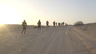 Marathon im Wüstensand