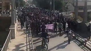 تظاهرات کارگران هفتتپه و اعلام همبستگی اصناف و دانشجویان اهواز