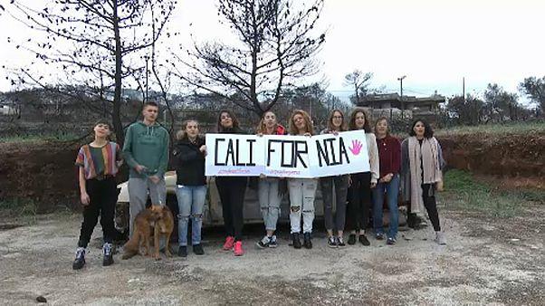 Solidaridad de los jóvenes de Mati con las víctimas de los incendios en California