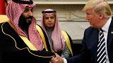 U.S. President Trump with Saudi Arabia's Crown Prince Mohammed bin Salman