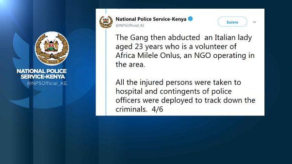 Kenya : une jeune bénévole italienne kidnappée