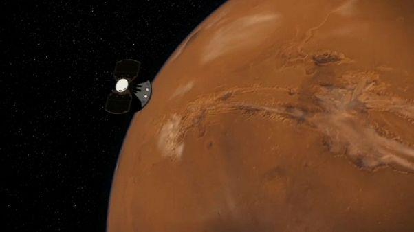NASA'nın uzay aracı InSight uzun bir yolculuğun ardından Mars'a iniyor