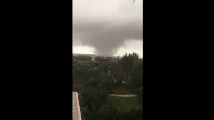 Dramatic waterspout forms off coast of Italian port town | The Cube