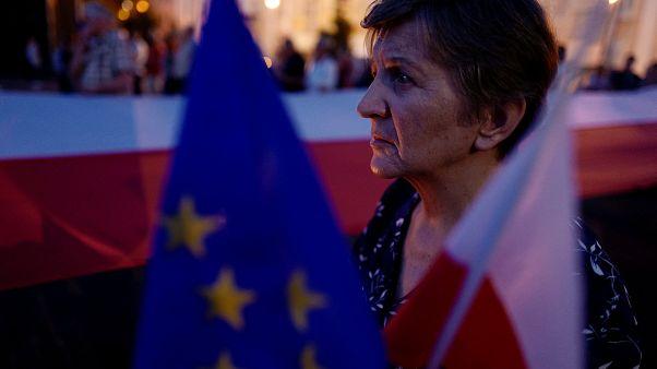 Manifestation contre la réforme de la Cour suprême en Pologne (27/7)