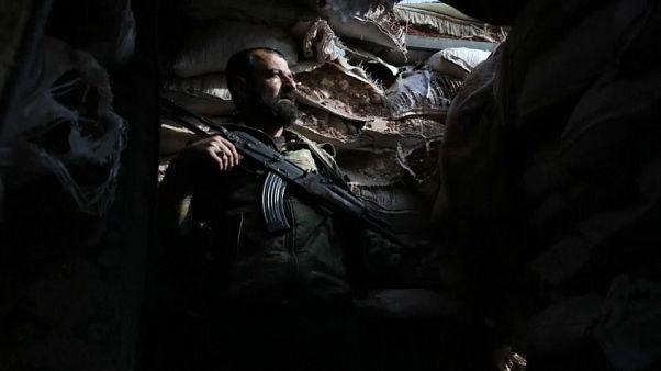 شاهد: عناصر الجبهة الوطنية لتحرير سوريا في حي الراشدين بحلب