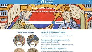 Capture d'écran du site manuscrits-france-angleterre.org