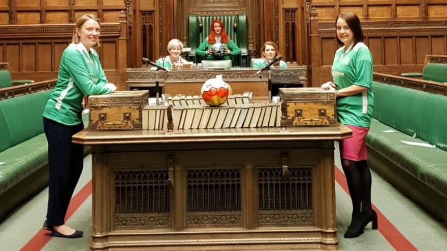 House of Commons: MPs told off after playing football in UK parliament