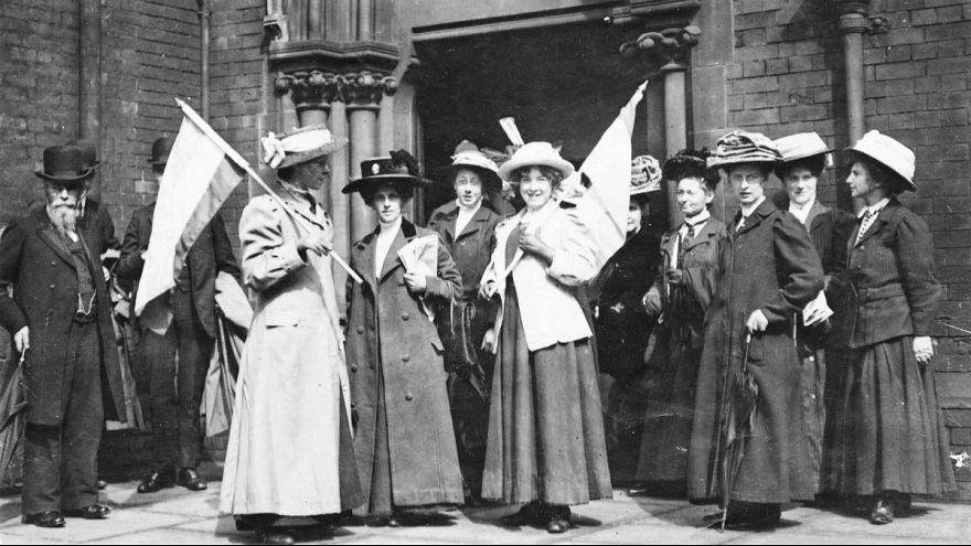 تجمع زنان در بریتانیا برای دریافت حق رای ۱۹۱۱