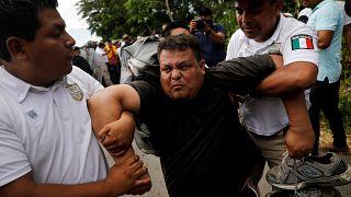 La desconfianza marca la llegada de la sexta caravana de migrantes centroamericanos a México