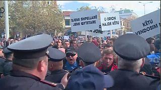 Албанцы штурмовали парламент