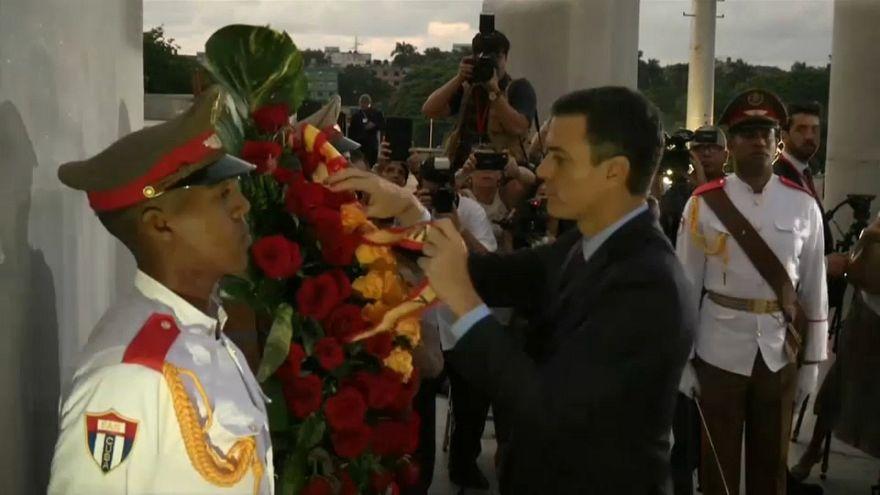 1. Staatsbesuch seit 32 Jahren: Pedro Sánchez besucht Kuba