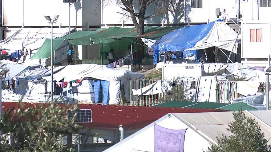 Moria refugee camp in Lesbos, Greece
