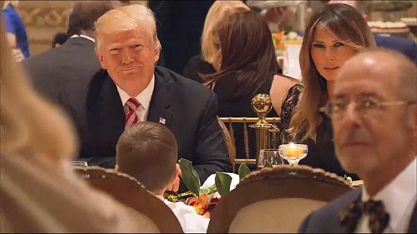 """شاهد: ترامب وعائلته يحتفلون بعيد الشكر في منتجع """"مار لاغو"""""""