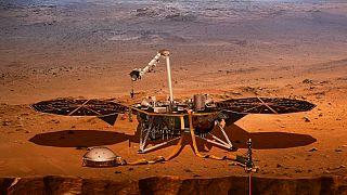 Video | Mars'ın geçmişini araştıracak InSight uzay aracı gezegen yüzeyine iniş yaptı