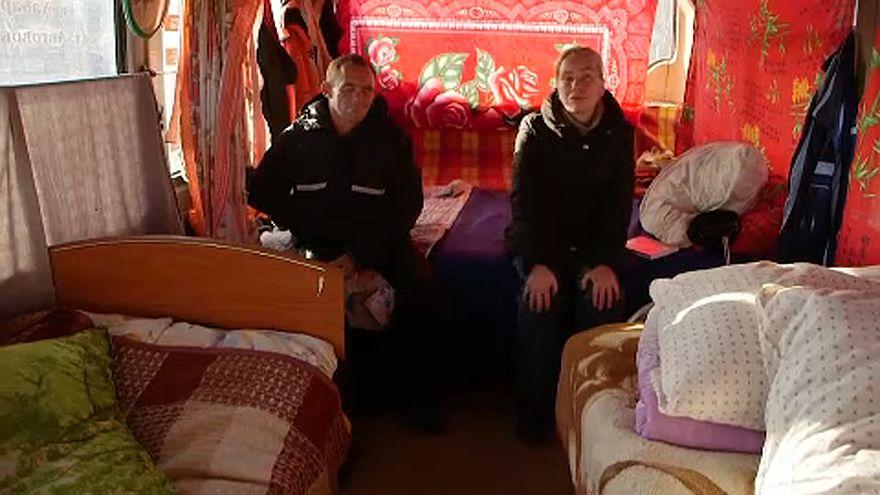 Autobuses reconvertidos en alojamientos para indigentes en Rusia