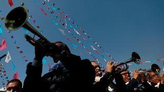 Музыканты-мариачи чествуют святую Цецилию
