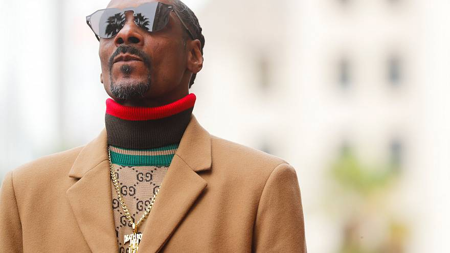 """Rapper Snoop Dogg receives his star on the """"Hollywood Walk of Fame"""" LA, USA"""