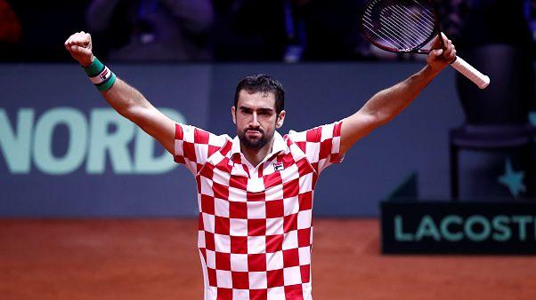 Tenisz: egy lépésre a trófeától a horvátok