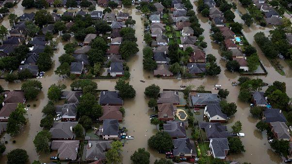 Casas sumergidas tras la tormenta tropical Harvey. Houston, EE.UU. 30/08/17