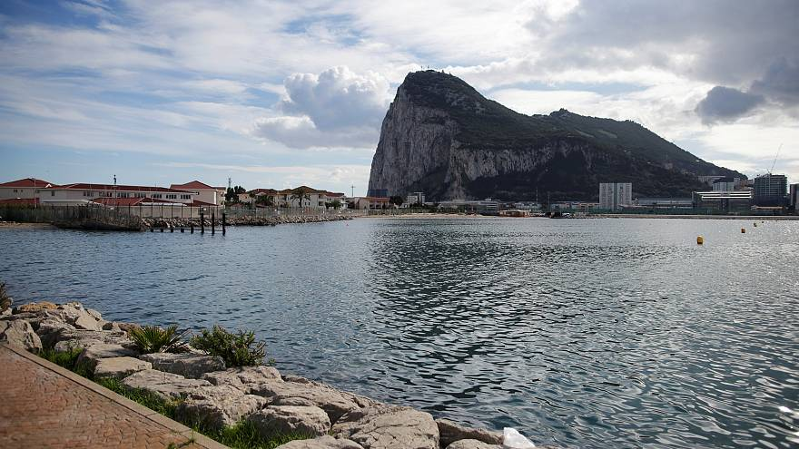 The Rock of the British overseas territory of Gibraltar