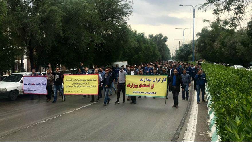 پانزدهمین روز اعتراض کارگران فولاد اهواز