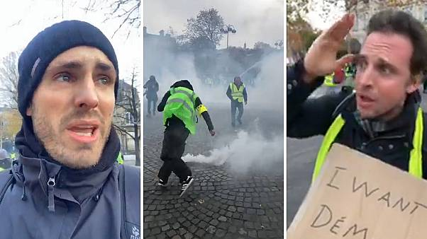 Chaos erupts in Paris after protesters face-off against police