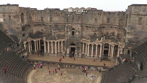 Römisches Theater in Bosra: Vergleichsweise geringe Kriegsschäden